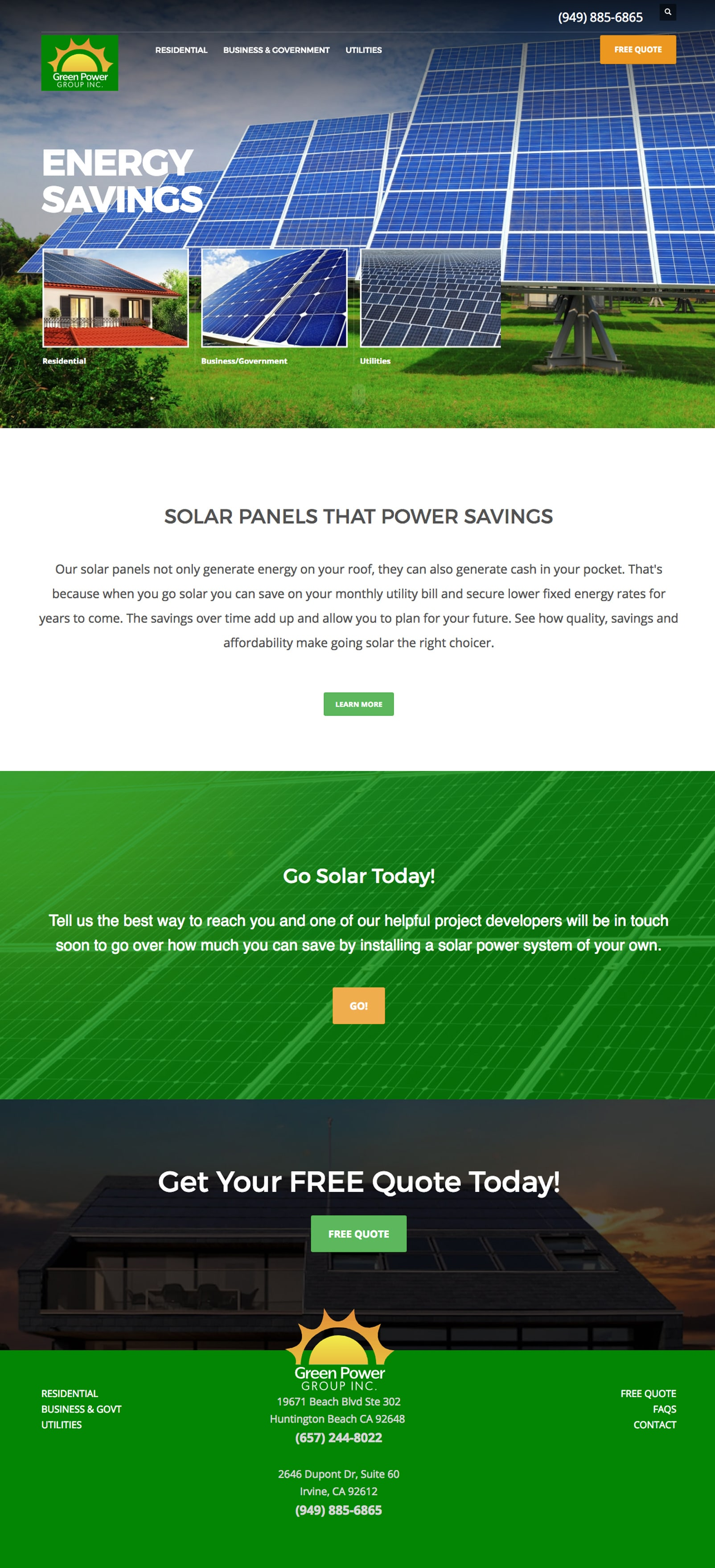 Green Power Group home page