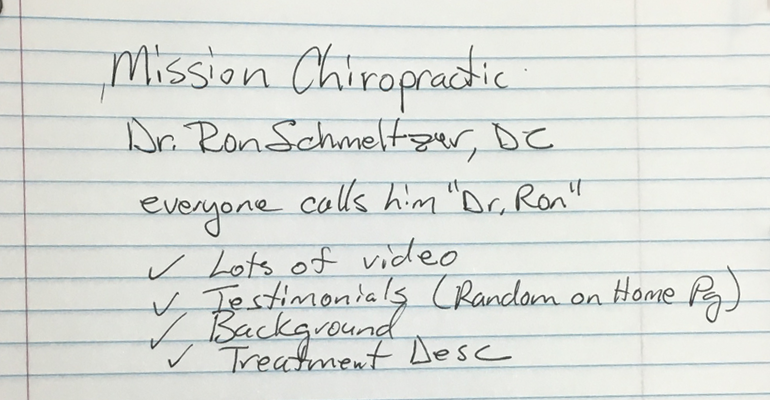 Dr Ron Notes